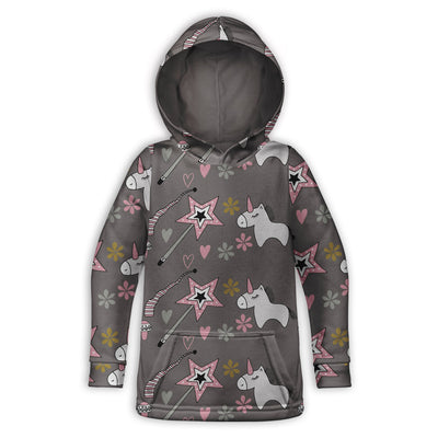 Pink Magic Unicorn Childrens Hoodie | TinyHumanClothing.com