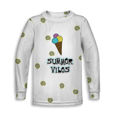 Summer Vibes n' Ice Cream Childrens Long Sleeve Tee | TinyHumanClothing.com