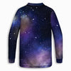 Universe and Moon Childrens Long Sleeve Tee | TinyHumanClothing.com