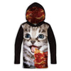 Pizza Kitty Childrens Lightweight Hoodie | TinyHumanClothing.com
