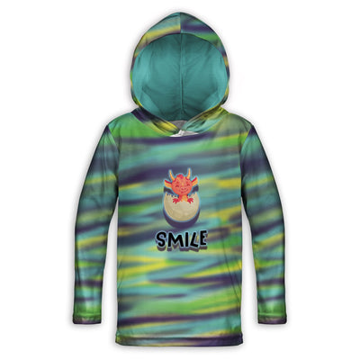 Smile Dragon Childrens Lightweight Hoodie | TinyHumanClothing.com
