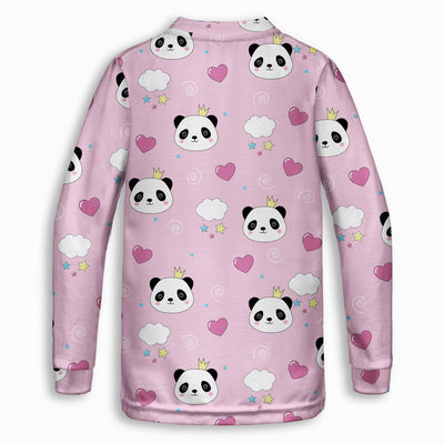 Panda Princess Childrens Sweatshirt | TinyHumanClothing.com