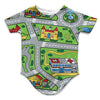 Toy Car Play Rug Infant Bodysuit | TinyHumanClothing.com