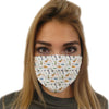 Jurassic Print - White Edition Face Mask | TinyHumanClothing.com