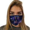 Universe and Moon Face Mask | TinyHumanClothing.com