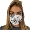 Old School Cassette Cool Face Mask | TinyHumanClothing.com