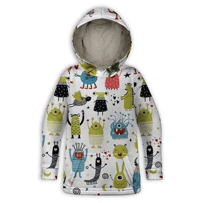Monsters Toddler Hoodie | TinyHumanClothing.com