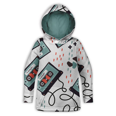 Old School Cassette Cool Toddler Hoodie | TinyHumanClothing.com