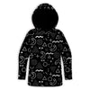 Retro Shapes B&W Toddler Hoodie | TinyHumanClothing.com