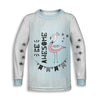 Be Awesome Toddler Long Sleeve Tee | TinyHumanClothing.com