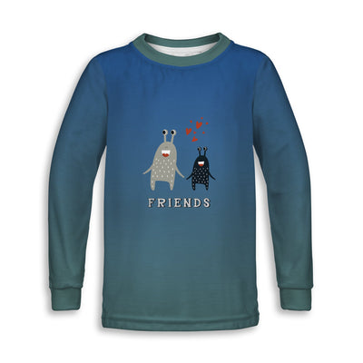 Monster Friends Toddler Long Sleeve Tee | TinyHumanClothing.com