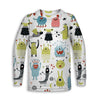Monsters Toddler Long Sleeve Tee | TinyHumanClothing.com