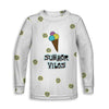 Summer Vibes n' Ice Cream Toddler Long Sleeve Tee | TinyHumanClothing.com