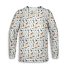Jurassic Print - White Edition Toddler Long Sleeve Tee | TinyHumanClothing.com