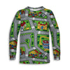 Toy Car Play Rug Toddler Long Sleeve Tee | TinyHumanClothing.com
