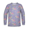Turtle Flower Toddler Long Sleeve Tee | TinyHumanClothing.com