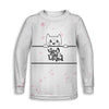 Kitty Love Toddler Long Sleeve Tee | TinyHumanClothing.com
