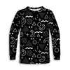 Retro Shapes B&W Toddler Long Sleeve Tee | TinyHumanClothing.com