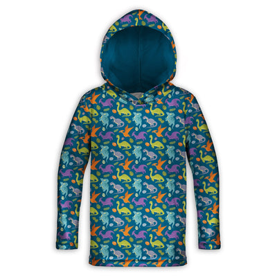 Happy Dinos Toddler Lightweight Hoodie | TinyHumanClothing.com