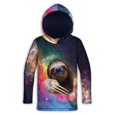 Oh Hello Sloth Toddler Lightweight Hoodie | TinyHumanClothing.com