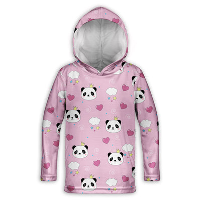 Panda Princess Toddler Lightweight Hoodie | TinyHumanClothing.com