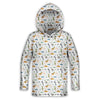 Jurassic Print - White Edition Toddler Lightweight Hoodie | TinyHumanClothing.com