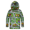 Toy Car Play Rug Toddler Lightweight Hoodie | TinyHumanClothing.com