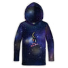 Universe and Moon Toddler Lightweight Hoodie | TinyHumanClothing.com