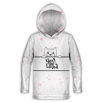 Kitty Love Toddler Lightweight Hoodie | TinyHumanClothing.com