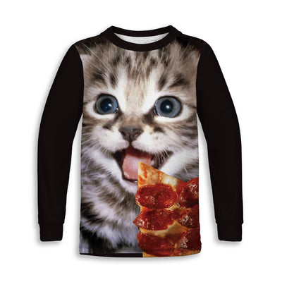 Pizza Kitty Toddler Sweatshirt | TinyHumanClothing.com