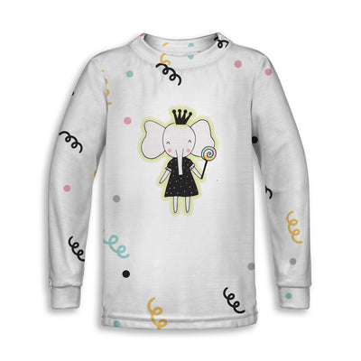 Princess Elephant Toddler Sweatshirt | TinyHumanClothing.com