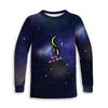 Universe and Moon Toddler Sweatshirt | TinyHumanClothing.com