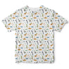 Jurassic Print - White Edition Toddler Tee | TinyHumanClothing.com