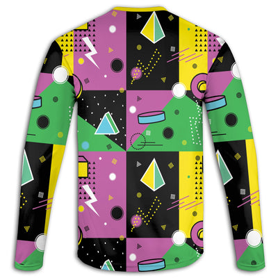 90's Three Ring Binder Long Sleeve Tee | TinyHumanClothing.com