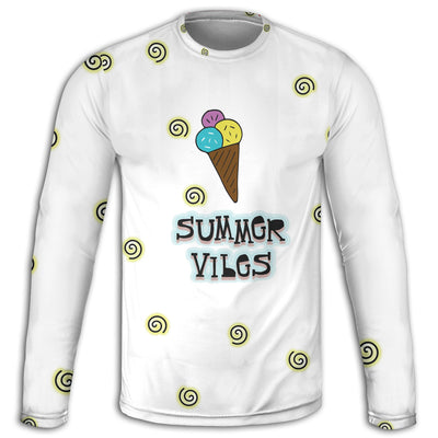 Summer Vibes n' Ice Cream Long Sleeve Tee | TinyHumanClothing.com