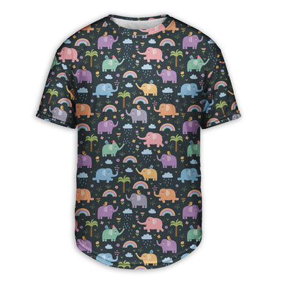 Rainy Day Elephants Scoop Tee | TinyHumanClothing.com