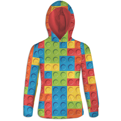 Bricked Womens Hoodie | TinyHumanClothing.com