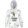 Summer Vibes n' Ice Cream Womens Hoodie | TinyHumanClothing.com