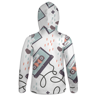 Old School Cassette Cool Womens Hoodie | TinyHumanClothing.com