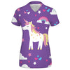 I love Unicorns Womens V-Neck Tee | TinyHumanClothing.com