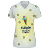 Summer Vibes n' Ice Cream Womens V-Neck Tee | TinyHumanClothing.com
