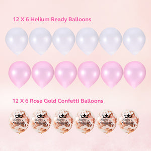 1st Birthday Girl Decorations Princess Theme - 85 Piece Kit