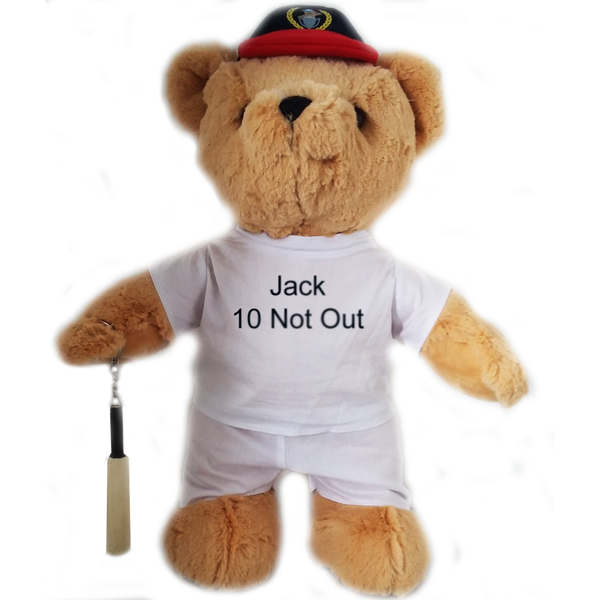 Personalised Birthday Cricket Bear