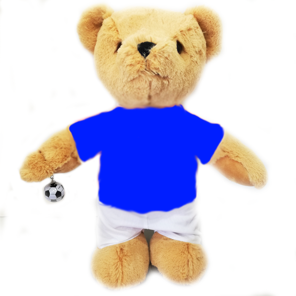 Personalised Birthday Football Bear (blue)