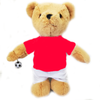 Personalised Birthday Football Bear (red)