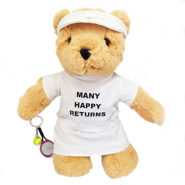 'Many Happy Returns' Tennis Teddy Bear (girl)