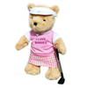 'I Love Birdies' Golfing Teddy Bear (girl)