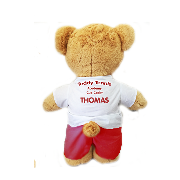 Personalised Teddy Tennis Bear (boy) + FREE CD!