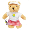 Personalised Teddy Tennis Bear (girl) + FREE CD!