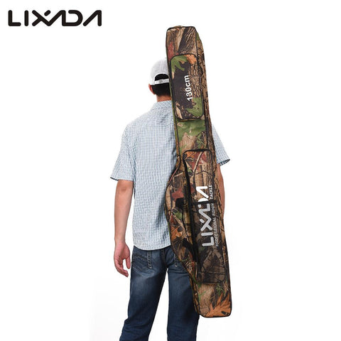 Lixada 130/150cm Fishing Bags Rod Pouch Reel Outdoor Multi-purpose Oxford Fishing Pole Storage Bag Case Gear Pesca Camouflage